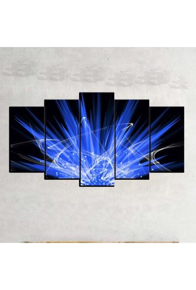 Kanvas Burada ABS5-413 Soyut 5 Parçalı Kanvas Tablo - 120 x 60 cm