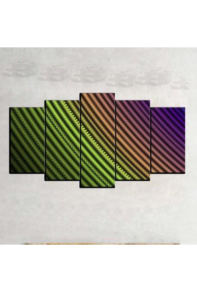 Kanvas Burada ABS5-406 Soyut 5 Parçalı Kanvas Tablo - 120 x 60 cm