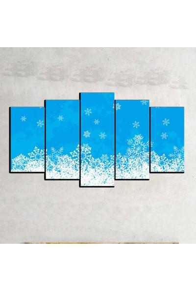 Kanvas Burada ABS5-408 Soyut 5 Parçalı Kanvas Tablo - 120 x 60 cm