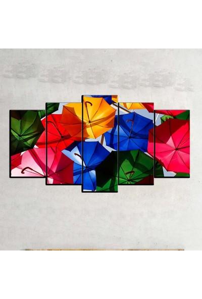 Kanvas Burada ABS5-621 Soyut 5 Parçalı Kanvas Tablo - 120 x 60 cm
