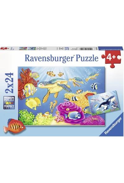 Ravensburger 2x24 Parçalı Puzzle Under The Sea-078158