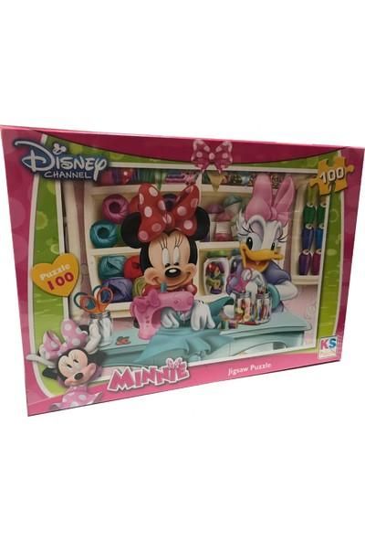 Ks Games Minnie Mouse Çocuk Puzzle 100 Parça 34x48 cm