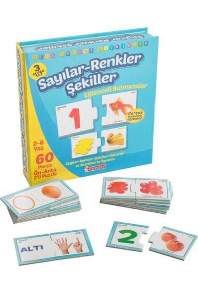 Diy - Toy Eğlenceli Sayılar Renkler Şekiller Çocuk Puzzle Dıy Toy