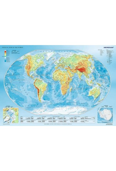 Trefl Fiziki Dünya Haritası 1000 Parça Puzzle - 10463