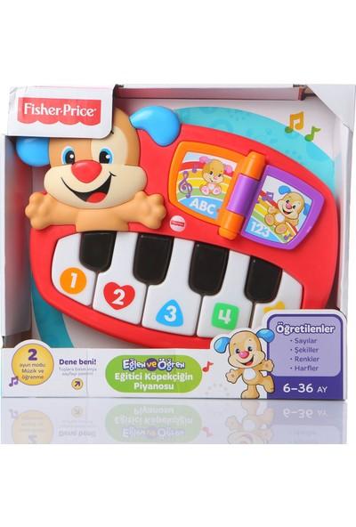 Fisher-Price Eğlen & Öğren Eğitici Köpekçiğin Piyanosu (Türkçe) 5 Işıklı Piyano Tuşu 30+ Şarkı DLK19