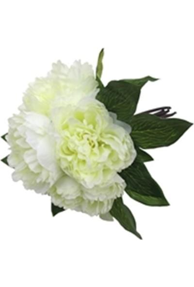 Allmode Dekoratif Çiçek Bej Şakayık 6'Lı Buket