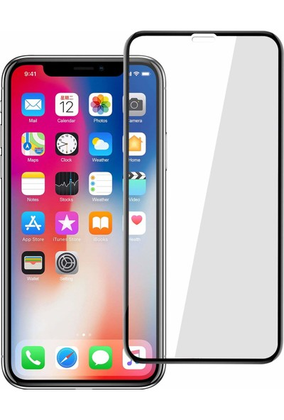 Case 4U Apple iPhone X Tam Kapatan Kavisli Ekran Koruyucu