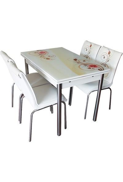 Allmode Capuuchıno Gül Yemek Masası