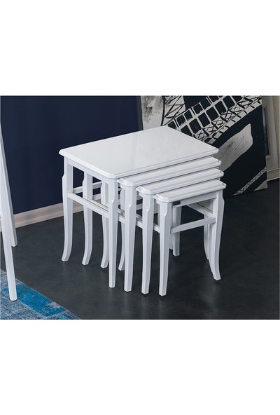 Allmode 3620 Domaniç Zigon Sehpa Beyaz