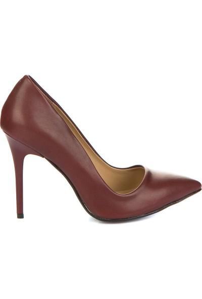 Fox Shoes Bordo Kadın Topuklu Ayakkabı 8922151909
