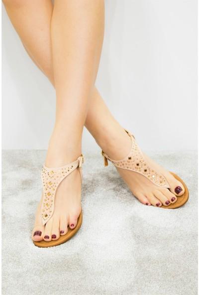 Fox Shoes Pudra Kadın Sandalet B548392002