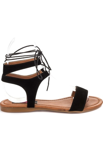 Fox Shoes Siyah Kadın Sandalet B548397502