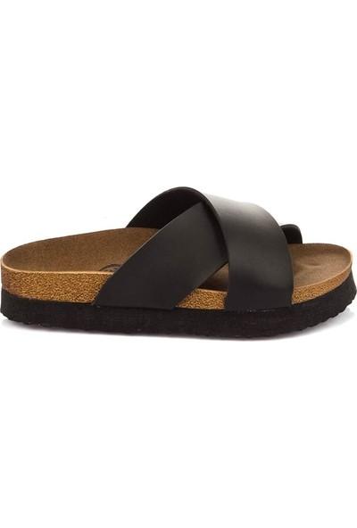 Fox Shoes Siyah Kadın Terlik B777742209