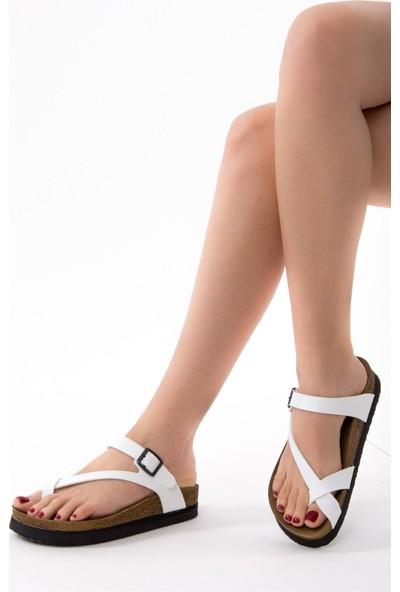 Fox Shoes Beyaz Kadın Terlik B777753009