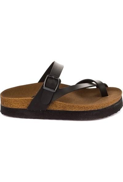 Fox Shoes Siyah Kadın Terlik B777753009
