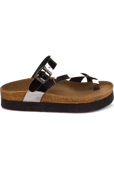 Fox Shoes Platin Kadın Terlik B777753034