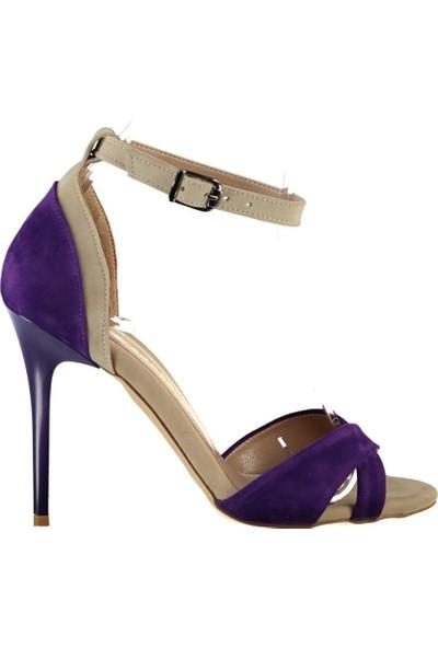 Fox Shoes Mor Ten Kadın Topuklu Ayakkabı B922113802