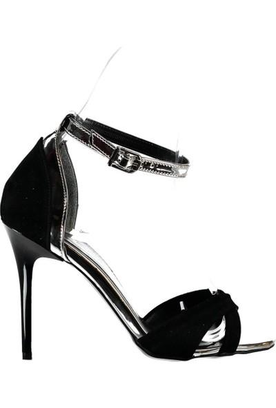Fox Shoes Siyah Platin Kadın Topuklu Ayakkabı B922113802