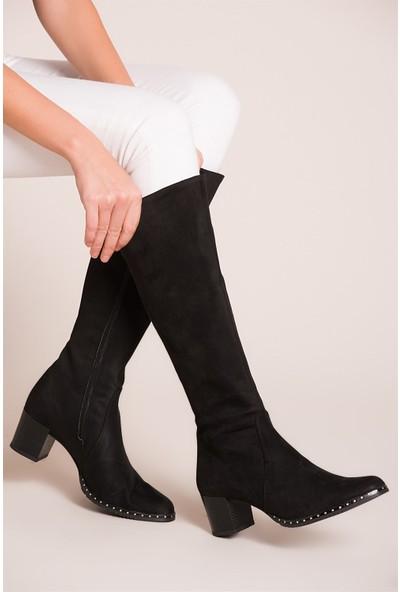 Fox Shoes Siyah Kadın Çizme C654652702