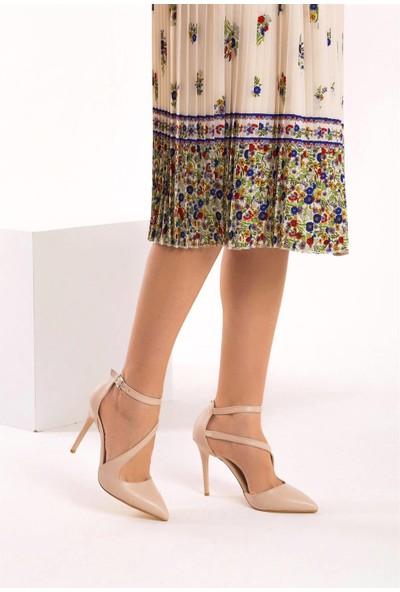 Fox Shoes Ten Kadın Topuklu Ayakkabı D340089709