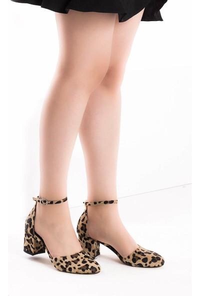 Fox Shoes Leopar Kadın Topuklu Ayakkabı D422008202