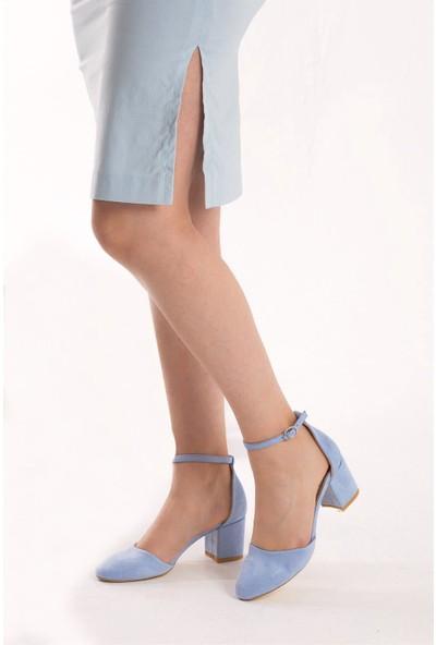 Fox Shoes Mavi Kadın Topuklu Ayakkabı D422008202