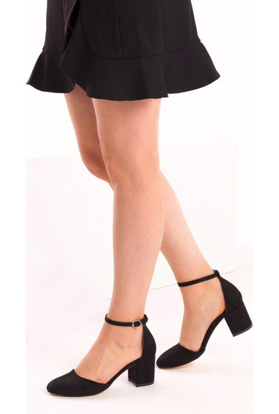 Fox Shoes Siyah Kadın Topuklu Ayakkabı D422008202