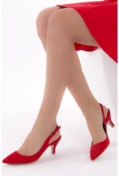 Fox Shoes Kırmızı Kadın Topuklu Ayakkabı D422009502