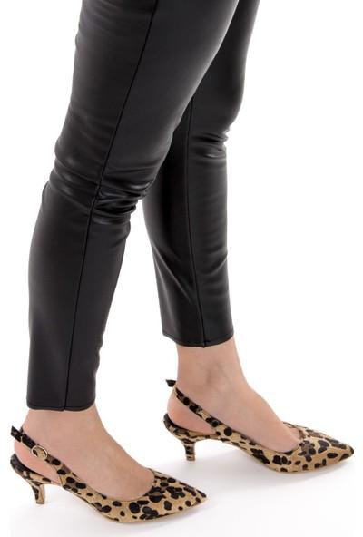 Fox Shoes Leopar Kadın Topuklu Ayakkabı D422009502