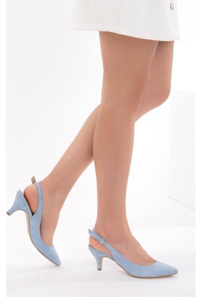 Fox Shoes Mavi Kadın Topuklu Ayakkabı D422009502