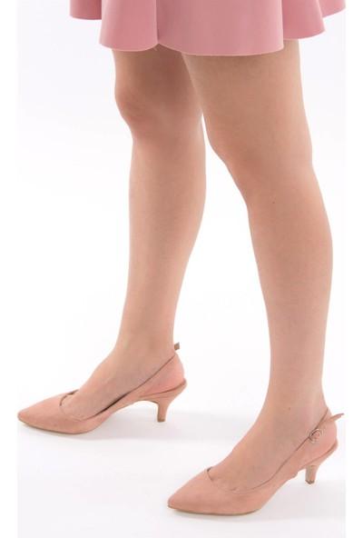 Fox Shoes Pudra Kadın Topuklu Ayakkabı D422009502