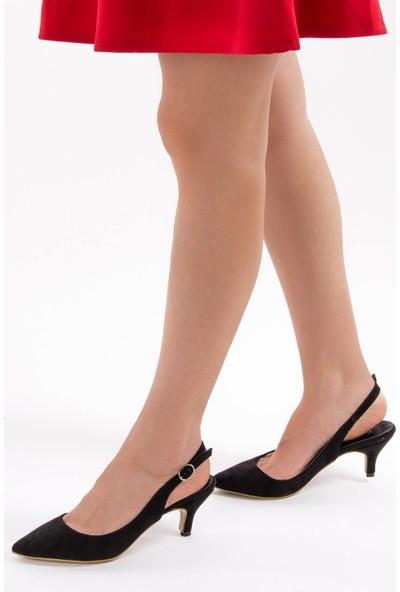 Fox Shoes Siyah Kadın Topuklu Ayakkabı D422009502