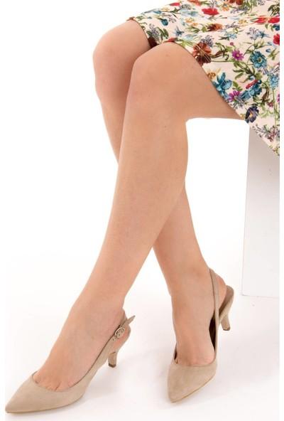 Fox Shoes Ten Kadın Topuklu Ayakkabı D422009502
