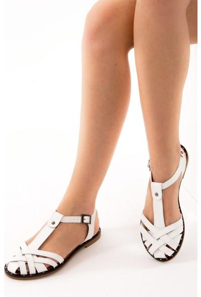 Fox Shoes Beyaz Kadın Sandalet D641670209