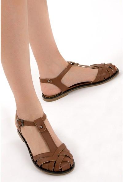 Fox Shoes Taba Kadın Sandalet D641670209