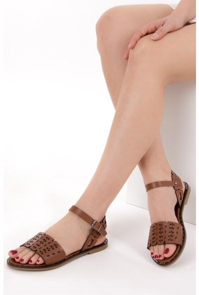 Fox Shoes Taba Kadın Sandalet D641671009
