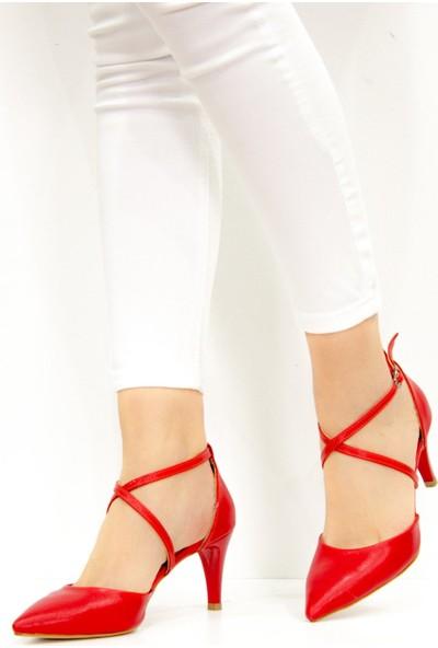 Fox Shoes Kırmızı Kadın Topuklu Ayakkabı D654054809