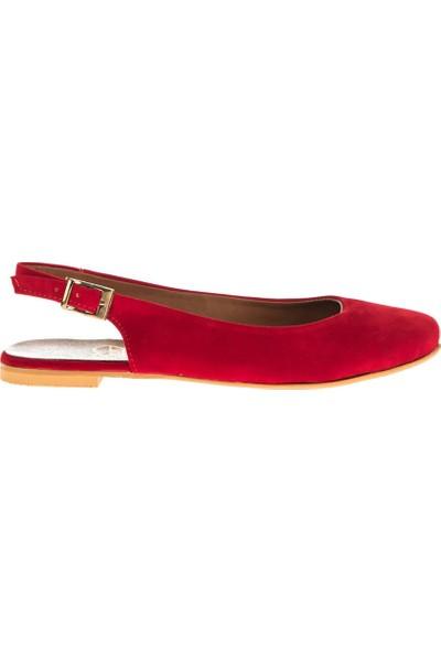 Fox Shoes Kırmızı Kadın Babet D726105202