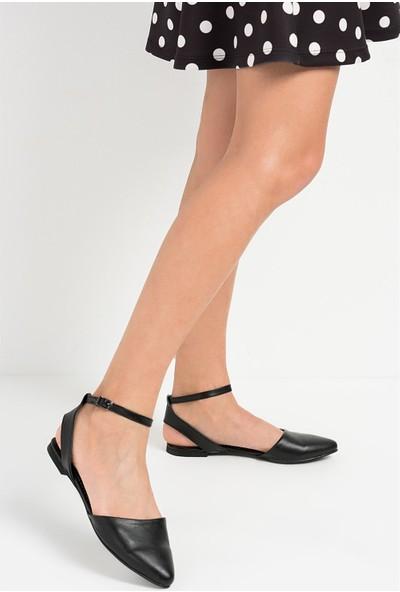 Fox Shoes Siyah Kadın Babet D726226209