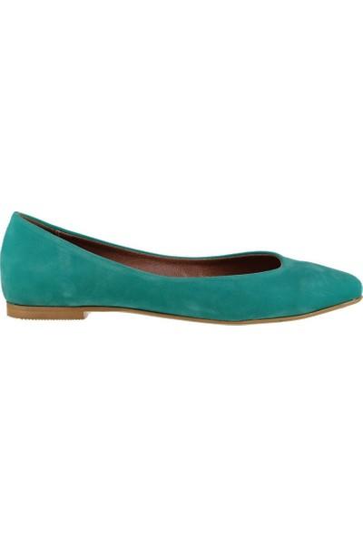 Fox Shoes Su Yeşili Kadın Babet D726460402
