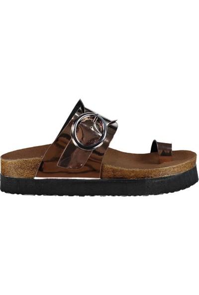 Fox Shoes Bakır Kadın Terlik D777811134