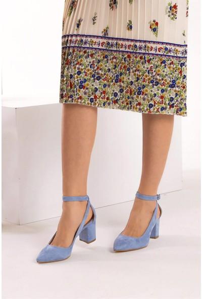 Fox Shoes Mavi Kadın Topuklu Ayakkabı D922223602