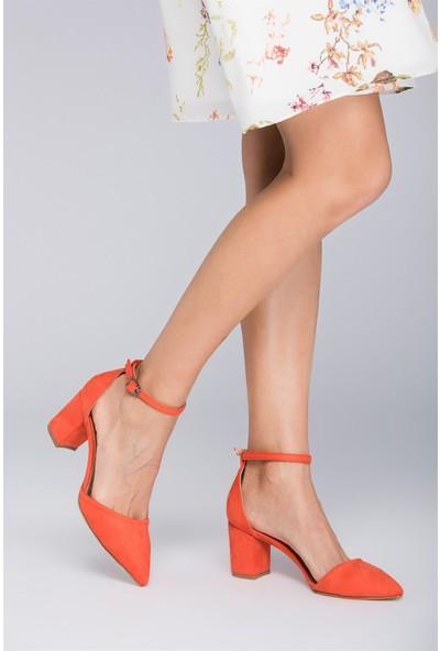 Fox Shoes Turuncu Kadın Topuklu Ayakkabı D922676702