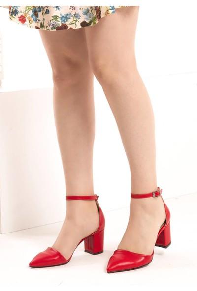 Fox Shoes Kırmızı Kadın Topuklu Ayakkabı D922676709