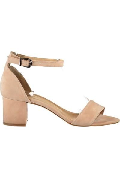 Fox Shoes Pudra Kadın Topuklu Sandalet B922631002