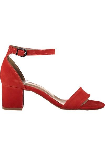 Fox Shoes Turuncu Kadın Topuklu Sandalet B922631002