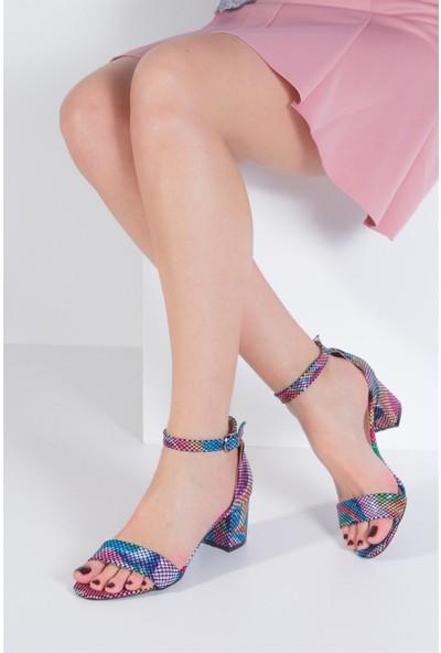 Fox Shoes Multi Kadın Topuklu Sandalet B922631007