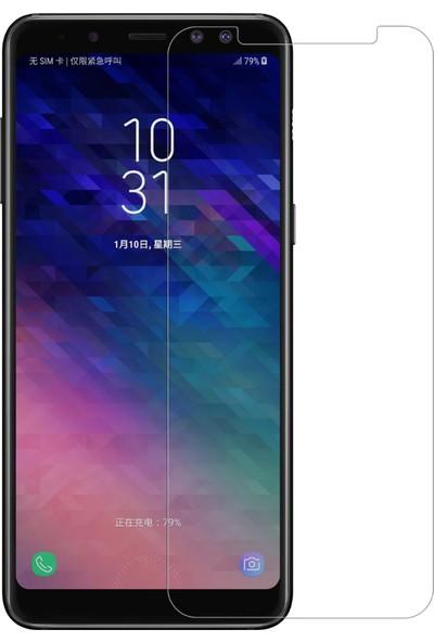 Case 4U Samsung Galaxy A8 Plus 2018 Ekran Koruyucu Temperli Cam