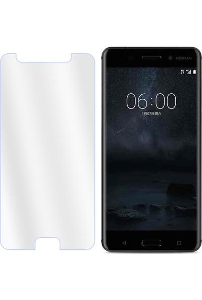 Case 4U Nokia 6 Ekran Koruyucu Temperli Cam