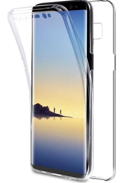 Case 4U Samsung Galaxy Note 8 Kılıf 360 Derece Tam Full Koruma Clear Soft - Şeffaf